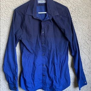 Express Dark Blue Dress Shirt